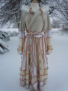 Upcycled clothing long sweater coat by RecycledGrace on Etsy, $439.00 -- I would totally wear this! All winter!!