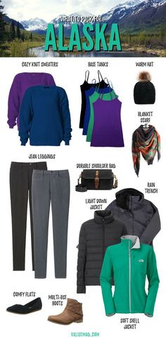 What to Pack for Alaska Planning a trip to The Last Frontier? You might wonder what to pack for Alaska – but this list tells you exactly what you need! Packing For Alaska, Alaska Cruise Tips, Packing List For Cruise, Alaska Travel, Cruise Travel, Alaska Trip, Packing Lists, Cruise Vacation, Disney Cruise