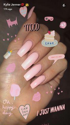 Beautiful Pink acrylic nails