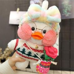 White Cafe Mimi Yellow Duck Plush Toy Cute Stuffed Doll Soft Animal Dolls Kids Toys Birthday Gift for Children Mochi, Cute Ducklings, Baby Icon, Duck Toy, White Cafe, Cute Stuffed Animals, Baby Ducks, Cute Plush, Cute Toys