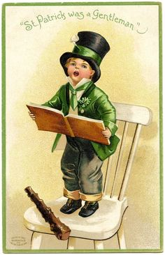 st patrick's day vintage images | Vintage St. Patrick's Day Image – Cute Little Boy
