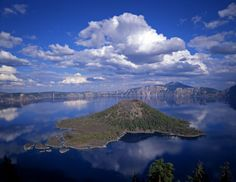 Wizard Island in Crater Lake - Mike Norton