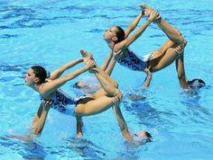 Gemma Mengual y Andrea Fuentes, dos referentes de natación sincronizada.