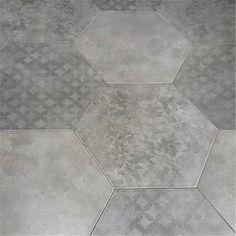 Klinker Hill Ceramic Artes Hexagon Grå 35x40 KL2060