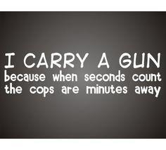 Why I Carry A Gun | Concealed Carry | Guns | Shooting | Self Defense & Preparedness by Gun Carrier at guncarrier.com/...
