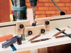Rockler Woodworking Pen Blank Drilling Jig