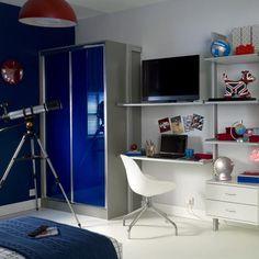 Modern storage for a teen boy's bedroom | Teenage boy's room design ideas | PHOTO GALLERY | Ideal Home | Housetohome.co.uk