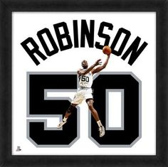 David Robinson Framed San Antonio Spurs 20x20 Jersey Photo