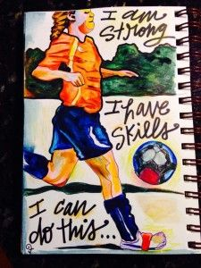 for every soccer girl in the universe! More at www.lisafroststudio.com