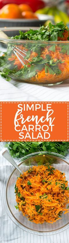 add this simple refreshing and healthy carrot salad to your table to channel the