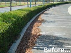 Before and After pictures of a parking lot sweeping job.  Give AFS a call for all your Parking lot needs!  #ParkingLotSweeping  #AmericanFacilityServices
