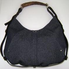 YSL Yves Saint Laurent Tom Ford Blue Denim Mombasa Horn Bag : Handbags