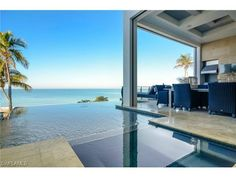 South Florida Extraordinary Property of the Day | 26740 Hickory Blvd, Bonita Springs, FL 34134 | Immaculate Gulf front new construction by Potter Homes and R.G. Designs.  Infinity pool into the sea....