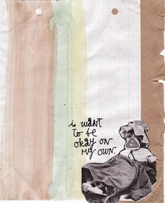 Okay On My Own collage print by artequalshappy on Etsy, $3.50