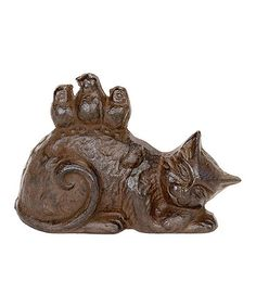 Look what I found on #zulily! Cast Iron Sleeping Cat Doorstop #zulilyfinds