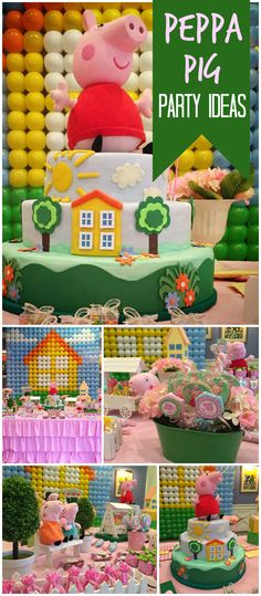 You have to check out this Peppa Pig party! So fun! See more party planning ideas at CatchMyParty.com!