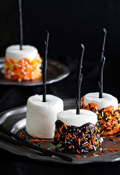 halloween marshmallow pops are the handheld treat you want at your halloween party colorful and delicious this recipe is created in partnership with