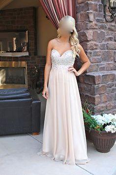 GIGI 17612 Nude Prom Dress (Size 2) Formal Dress Long