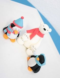 Fondant Polar Bears and Penguins | Winter Christmas Fondant Holiday Small Set 1 by SugarAndStripesCo, $16 ...