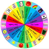 A job wheel available for free download! Colourful and bright, it features enough jobs for your whole class and takes up little space.