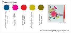 8th Anniversary Color Recipe 2 - Enchanted Evening, Raspberry Fizz, Pure Poppy, Simply Chartreuse, Ripe Avocado