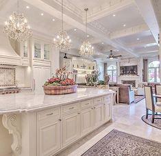 65 best white kitchen design ideas for white cabinets 1 Interior Design Luxury Kitchens Cabinets Design Ideas interior Kitchen White Elegant Kitchens, Luxury Kitchens, Beautiful Kitchens, Cool Kitchens, Dream Kitchens, Home Decor Kitchen, New Kitchen, Kitchen Ideas, Kitchen Layout