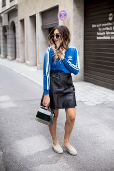 black palms edited adidas orginals aigner leatherskirt streetstyle fashionblog
