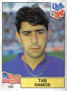Tab Ramos in his good old games, uno of the best Usa players. Good Old Games, America Album, Football Stickers, World Cup Final, Fifa World Cup, Soccer Players, American Football, Baseball Cards, Usa