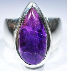 8.5 RING SIZE  RARE SUGULITE SILVER  [SJ4031]  sugelite ring,   sugelite silver ring , gemstone rings