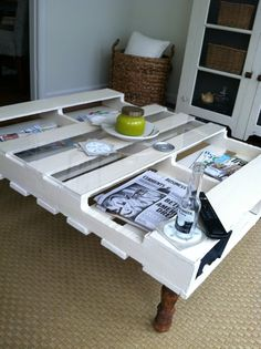 Repurposed Pallet Ideas | Repurposed pallet coffee table