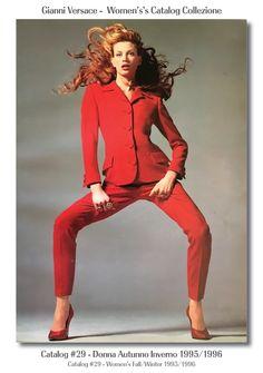 #29 - Donna.  Richard Avedon Kristen Mcmenamy Gianni Versace Donna Collezione Autunno Inverno Women's Fall Winter Catalog SuperModels Fashion #29, 1995 / 1996.