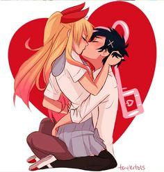 nisekoi; kirisaki chitoge x ichijou raku I Love Anime, Awesome Anime, Art Anime, Manga Anime, Anime Comics, Renders Anime, Manga Couple, Image Manga, Cute Anime Couples