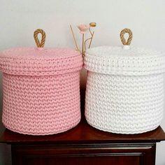 Совсем скоро Новиночки  большие корзины!!! С крышкой и без доступны к заказу Красивейшие работы @nuun_handmade #новинки #моимируками #текстильнаяпряжа #вяжудляВас