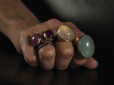 elajoyas. #Byzantine #rings with different #gemstones