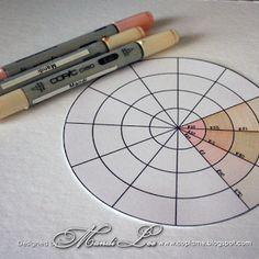 copic oz: Copic Hair and Skin Colour Wheel