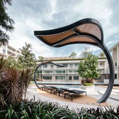 Autumn Huahin condominium by Sansiri. Landscape Architect Sanitas Studio