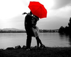 love just the red umbrella......photography