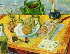 Vincent van Gogh - Still Life: Drawing Board, Pipe, Onions and Sealing Wax (by irinaraquel)