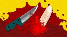Com uma faca cortada e um pouco de sangue falso, faça a pegadinha do sangue falso e assuste os seus amigos!