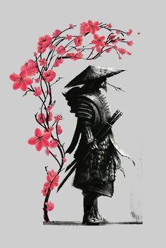 Japanese Art Samurai, Japanese Artwork, Japanese Tattoo Art, Japanese Sleeve Tattoos, Japanese Tattoo Designs, Japanese Warrior Tattoo, Ninja Kunst, Arte Ninja, Ninja Art