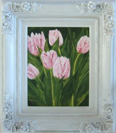 My Favorite Pink Tulips. Original: Private Collection. Available as Prints, Note Cards and Magnets.