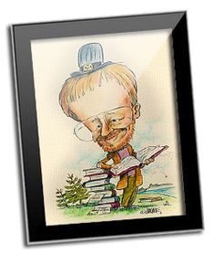 Caricature is funny and very ecological gift idea!!!