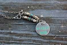 NEW! Wander Necklace Encouragement Word Tag by Eleven11designs, $28.00