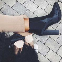 black-booties- Ankle booties latest trend for 2017 http://www.justtrendygirls.com/ankle-booties-latest-trend-for-2017/