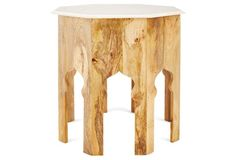 """Elinor Side Table, Natural/White 