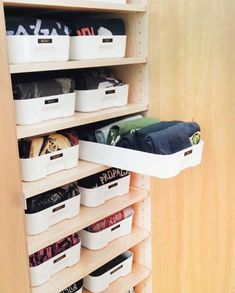 Home Organization Ideas And Konmari Storage House Ikea Storage Bins, Ikea Organisation, Home Business Organization, Closet Storage, Closet Organization, Organization Ideas, Storage Shelves, Baby Wardrobe Organisation, Storage Ideas