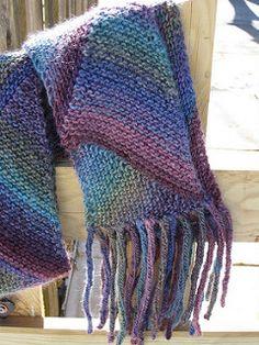 knit celebrity scarf free pattern
