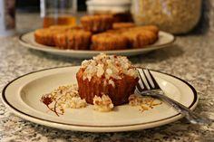 Mini Coconut Cakes with Warm Praline Sauce (gluten-free recipe)