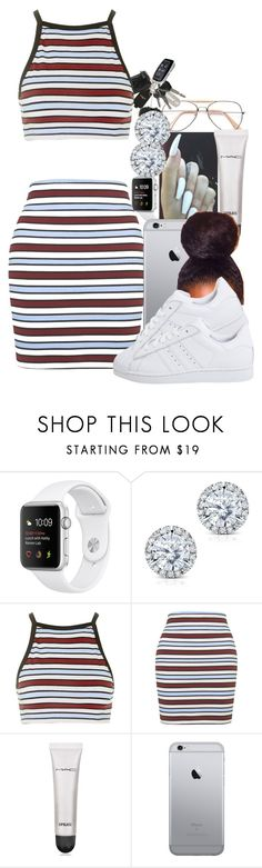 """*Working on my permit*"" by pimpcessjayyy ❤ liked on Polyvore featuring Kobelli, Motel, MAC Cosmetics and adidas Originals"