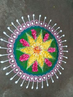 Make These Colorful Rangoli Free Hand Design For Diwali Creative Simple Pattern In My Style
